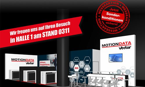 AutoZum2019 Messestand derMOTIONDATA VECTOR Gruppe