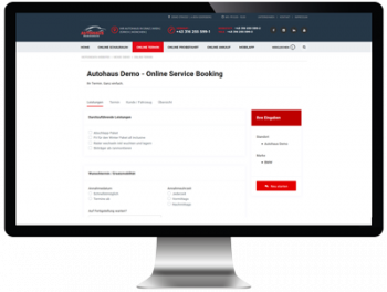 Online Service Booking-OSB Demo-Screen